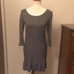 H&M grey ribbed sweater dress